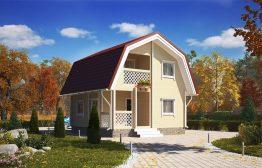 Дом «Сударыня» 6х6м из бруса с мансардой