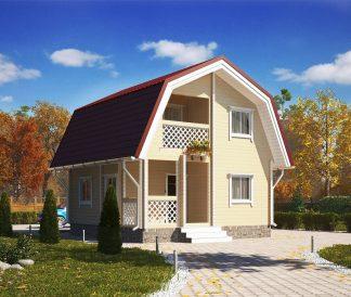 Дом из профилированного бруса «Сударыня» 6х6м 65м²