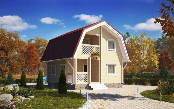 Дом из профилированного бруса «Сударыня» 6х6м 63м²