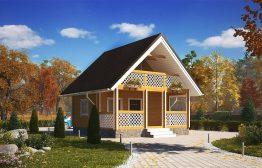 Дом «Витязь» 6х6м из бруса