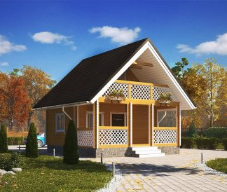 Дом из профилированного бруса «Витязь» 6х6м 63м²