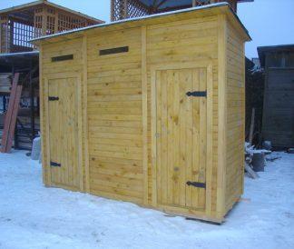 Хозблок с туалетом 3х1м 3м²