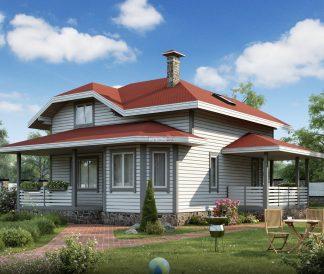 Каркасный дом «Александров» 7,6х8,6м