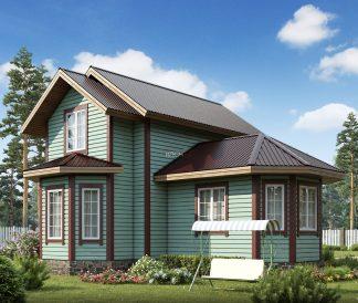 Каркасный дом «Боголюбово» 8,2х8,9м 75м²