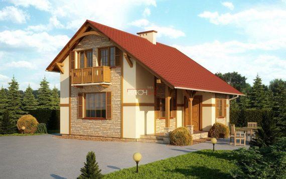 Каркасный дом «Богослово» 8,78х7,78м