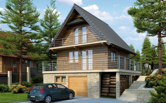 Каркасный дом «Чамерево» 7,10х7,10м 100м²