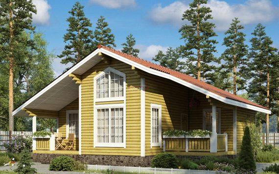 Каркасный дом «Добрынское» 10,4х10,2м 89м²
