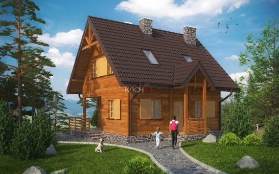 Каркасный дом «Гороховец» 9,7х9,6м