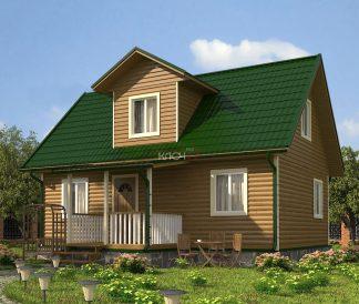 Каркасный дом «Карачарово» 8,0х9,0м