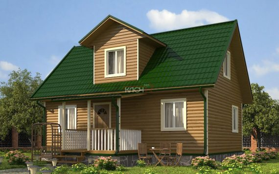 Каркасный дом «Карачарово» 8х9м 89м²