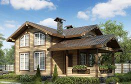 Каркасный дом «Клязьма» 7,7х10,4м 129м²
