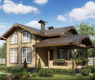 Каркасный дом «Клязьма» 7,7х10,4м