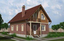 Каркасный дом «Кольчугино» 6,0х10,0м