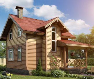 Каркасный дом «Лыбедь» 8,1х7,6м
