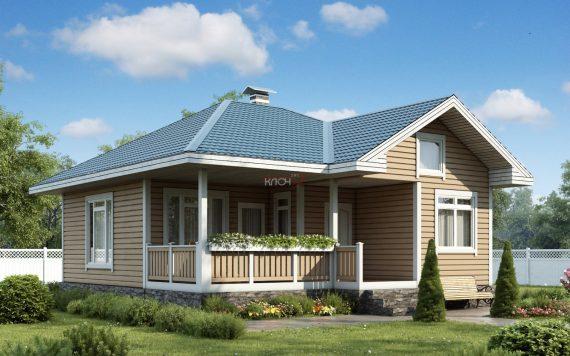 Каркасный дом «Мстера» 8,7х9,7м 75м²