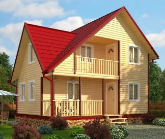Каркасный дом «Муром» 6,0х8,0м