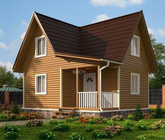 Каркасный дом «Нерль» 6,0х7,0м