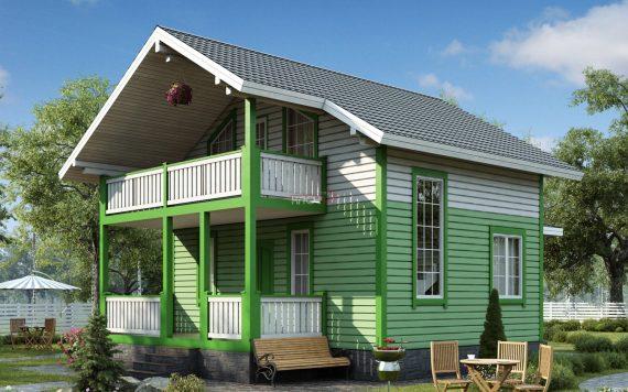 Каркасный дом «Покров» 7,0х10,3м