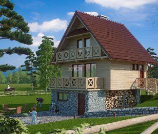 Каркасный дом «Сунгирь» 9,3х9,0м