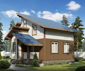 Каркасный дом «Суромна» 7,6х8,6м
