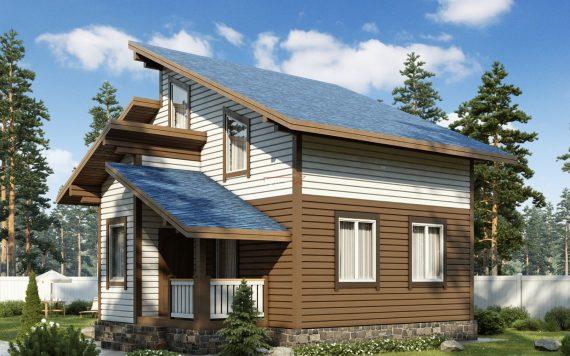 Каркасный дом «Суромна» 7,6х8,6м 97м²