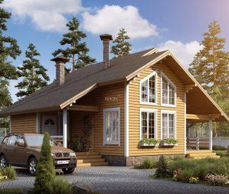 Каркасный дом «Юрьев-Польский» 10х8,7м 119м²
