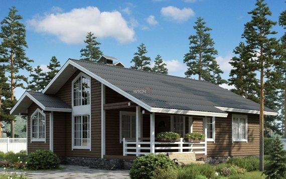 Каркасный дом «Загорье» 10,8х11,9м