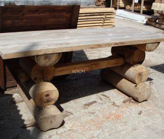 Стол садовый из бревна