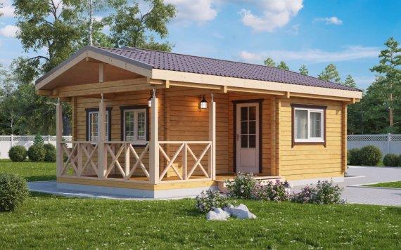 Дачный дом из бруса «Плёс» 6х7,9м 42м²