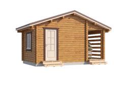 Дом «Велес» 6х6м с увеличенной мансардой и  крыльцом