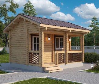 Дачный домик из бруса «Емеля» 4,5х4м 18м²