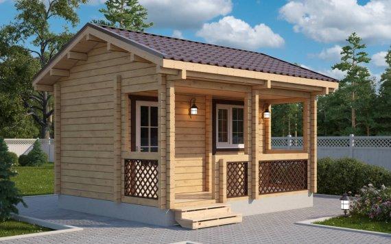 Дачный дом из бруса «Емеля» 4,5х4м 18м²