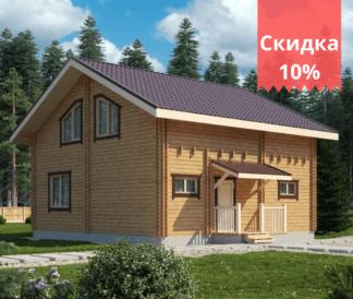 Дом из двойного бруса «Тампере» 8,5х8м 136м²