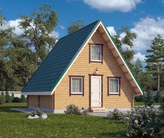 Дачный домик 6х6 из бруса двухэтажный