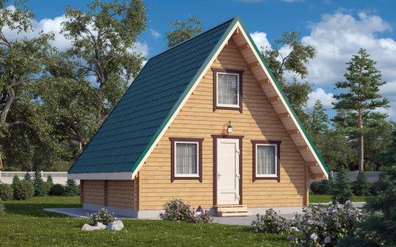 Дачный дом из бруса «Рай в Шалаше» 6х6м 44м²