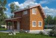 Дачный домик из бруса «Гаврош» 4х6м 51м²