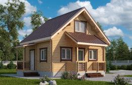 Дачный дом «Эллиот» 5х6м с премиум комплектацией