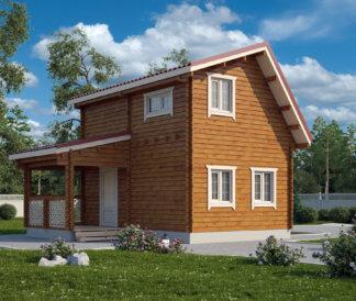 Дачный домик из бруса «Гаврош» 4х6м 47,5м²