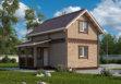 Дом из профилированного бруса «Каролина» 6х4м 48м²