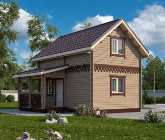 Дачный домик из бруса «Каролина» 4х6м 51м²