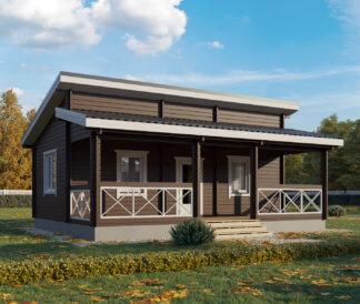 Дачный дом из бруса «Вестерн» 8х6м 48м²