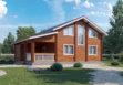 Дом из двойного бруса «Веста-2» 8,5х11,2м 163м²