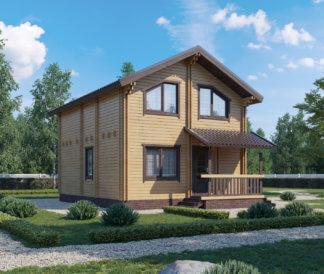 Дом из клееного бруса «Ника» 6,5х8,5м 110м²