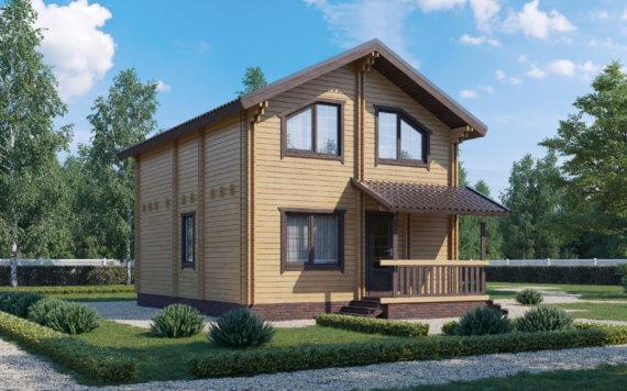 Дом из двойного бруса «Ника» 8,5х6,5м 114,5м²