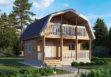 Дачный дом из бруса «Добрыня» 6х6м 72 м²