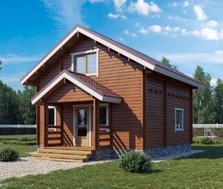 Дом «Велес» 6х6м с крыльцом