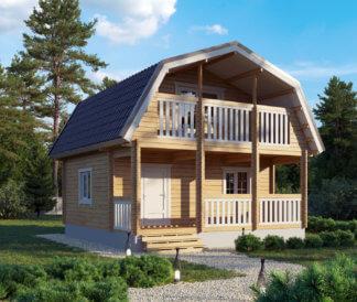Дом «Добрыня» 6х6м из бруса