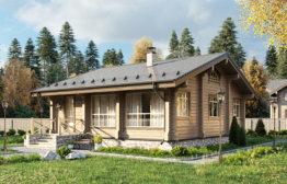 Дом из клееного бруса «Солнечногорск» 10х8,6м 86м²