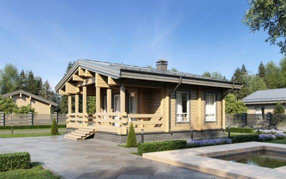 Дом из клееного бруса «Истра» 8,55х8,55м 73м²