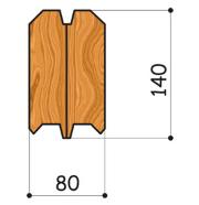 клееный брус 80х140мм-1